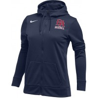 Beaverton Aloha Little League 19: Nike Women's Therma All-Time Hoodie Full Zip - Navy Blue